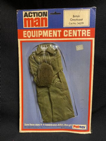 VINTAGE ACTION MAN - BRITISH GREATCOAT - CARDED (ref2)